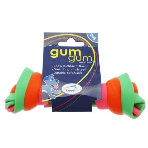 Happy Pet Gum Gum Bone Latex Dog Toy 15cm