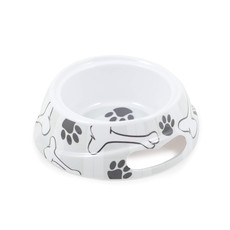 Ancol Grey Stripe Dog Bowl Small To 6 X Small