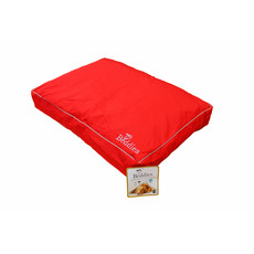 Beddies Waterproof Mattress Dog Bed In Red And Grey Small