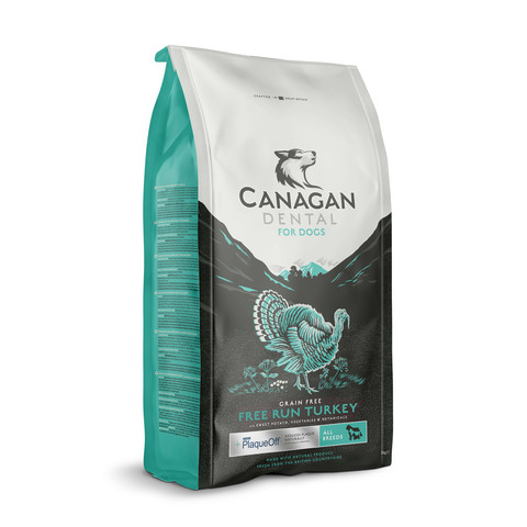 Canagan Dental With Plaqueoff Free Run Turkey Grain Free All Breeds Dog Food 2kg