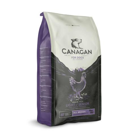 Canagan Free Run Chicken Grain Free Senior Light Dog Food 12kg