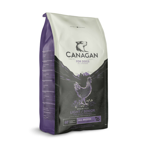 Canagan Free Run Chicken Grain Free Senior Light Dog Food 6kg
