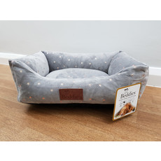 Beddies Grey & Rose Gold Star Lounger Soft Touch Dog Bed Small