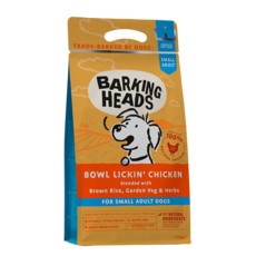 Barking Heads Bowl Lickin' Chicken Small Breed Dry Dog Food 1.5kg
