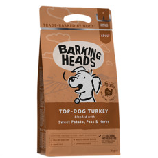 Barking Heads Top Dog Turkey Grain Free Dry Dog Food 12kg