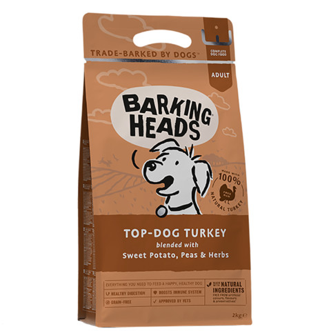Barking Heads Top Dog Turkey Grain Free Dry Dog Food 2kg