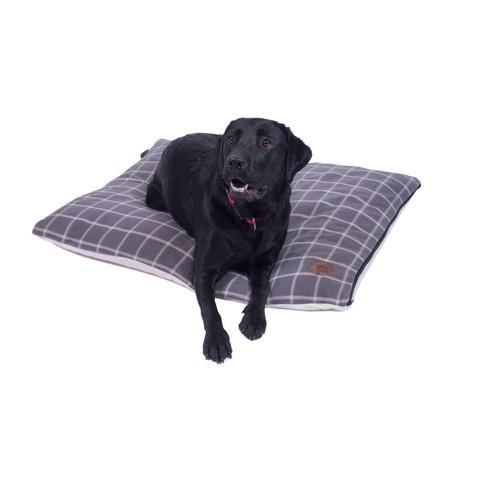Petface Grey Window Pane Pillow Mattress Medium
