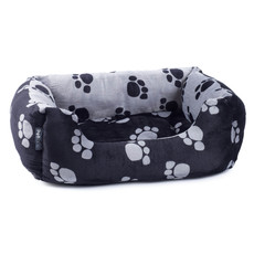 Petface Paws Plush Reversible Square Bed Large