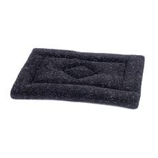 (d) Petface Sherpa Fleece Crate Mat Black 54cm