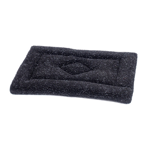 Petface Sherpa Fleece Crate Mat Black 86cm