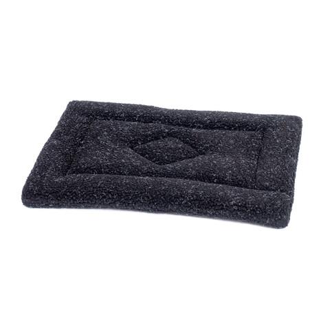 Petface Sherpa Fleece Crate Mat Black 109cm