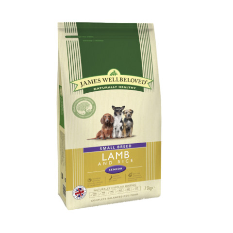 James Wellbeloved Senior Small Breed Lamb & Rice Dry Dog Food 7.5kg