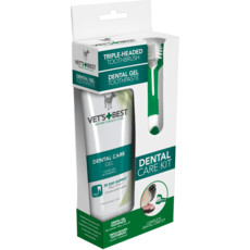 Vets Best Dental Care Kit Gel & Tooth Brush For Dogs