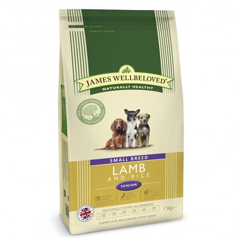 James Wellbeloved Senior Small Breed Lamb & Rice Dry Dog Food 1.5kg