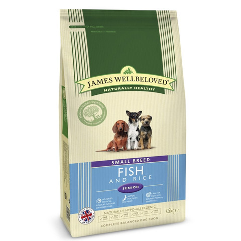 James Wellbeloved Senior Small Breed Fish & Rice Dry Dog Food 1.5kg