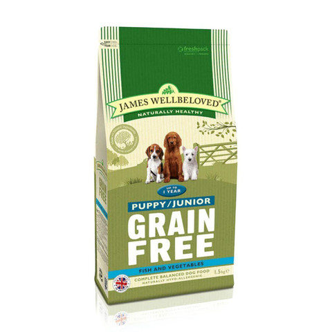 James Wellbeloved Puppy / Junior Grain Free Fish Dry Dog Food 1.5kg