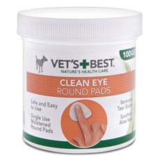 Vets Best Clean Eye Round Pads For Dogs 100 Pack