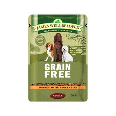 James Wellbeloved Grain Free Adult Dog Pouch With Turkey 12 X 100g