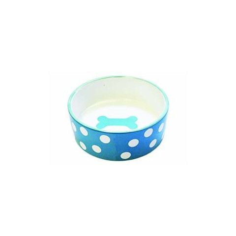 Happy Pet Polka Dot Pet Bowl Small