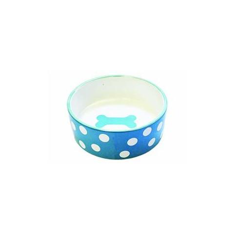 Happy Pet Polka Dot Pet Bowl Medium