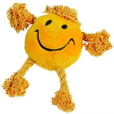 Happy Pet Happy Faces Yellow Dog Toy