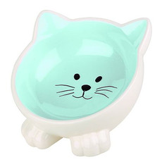 Happy Pet Orb Cat Bowl Blue One Size