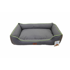Beddies Waterproof Lounger Dog Bed In Charcoal And Lime Small