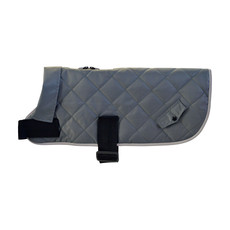 Happy Pet Quilted Classic Dog Coat Grey X Small