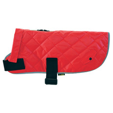 Happy Quilted Classic Dog Coat Red X Small