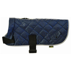 Happy Pet Quilted Classic Dog Coat Navy Small