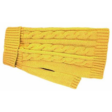 Happy Pet Charlton Cable Knit Dog Coat Mustard Xx Small