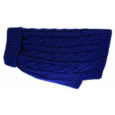 Happy Pet Charlton Cable Knit Dog Coat Midnight Blue Medium