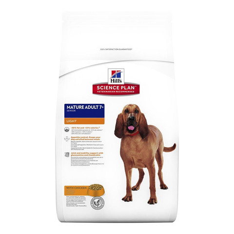 Hills Science Plan Mature Senior 7+ Dog Food With Chicken And Rice 12kg