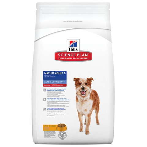 Hills Science Plan Canine Mature Adult 7+ Active Longevity Medium With Chicken 3kg To 12kg