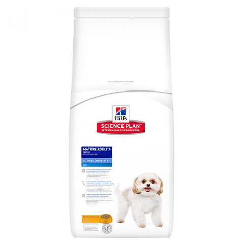 Hills Science Plan Canine Mature Adult 7+ Active Longevity Mini With Chicken 3kg