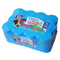 Ben Adult Premium Chunks Variety Dog Food 12 X 400g