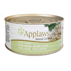 Applaws Natural Kitten Tins With Chicken And Rice 24 X 70g