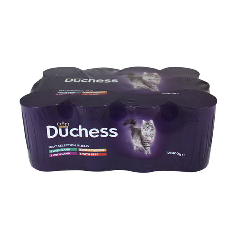 Duchess Adult Cat Tins Meat Variety In Jelly 12 X 400g