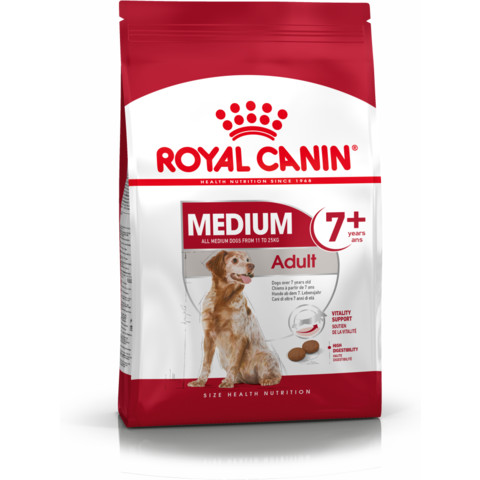Royal Canin Medium Adult 7+ Dog Food 4kg To 15kg
