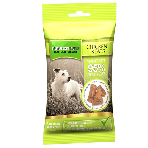 Natures Menu Real Meaty Dog Treat With Chicken 12 X 60g