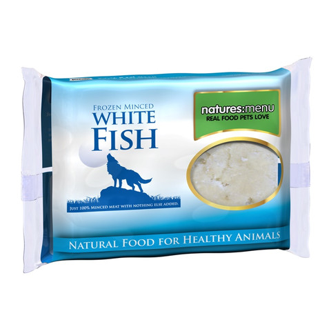 Natures Menu Minced Frozen Dog Food With White Fish 12 X 400g
