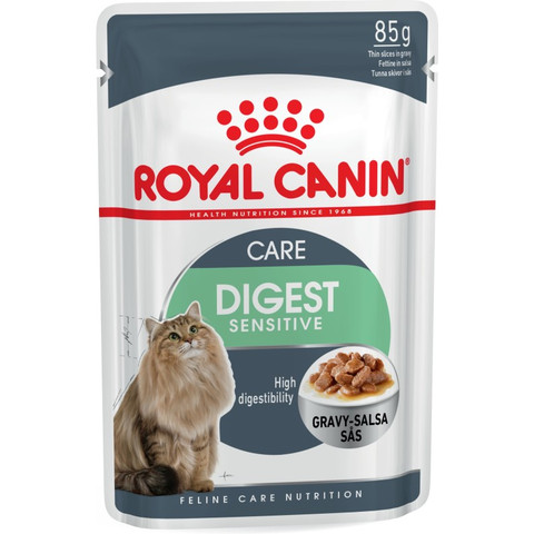 Royal Canin Digest Sensitive Cat Food In Gravy Pouches 12 X 85g