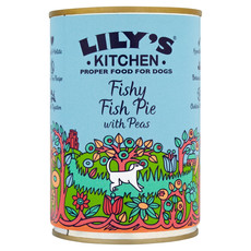 Lilys Kitchen Fishy Fish Pie With Peas Grain Free Wet Dog Food 6 X 400g