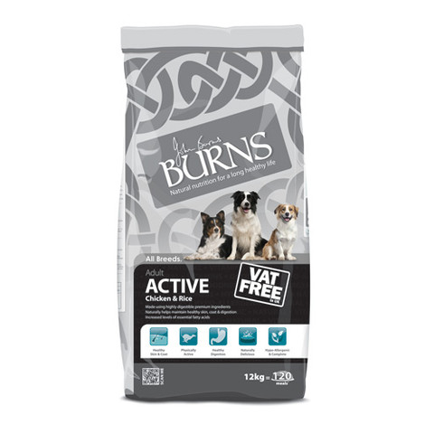 Burns Active With Chicken & Rice 12kg