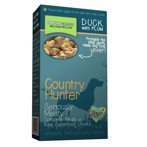 (d) Natures Menu Country Hunter Meaty Freeze Dried Duck Crunch 8 X 700g