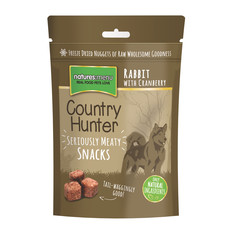 Natures Menu Country Hunter Freeze Dried Grain Free Dog Treats With Rabbit 10 X 50g