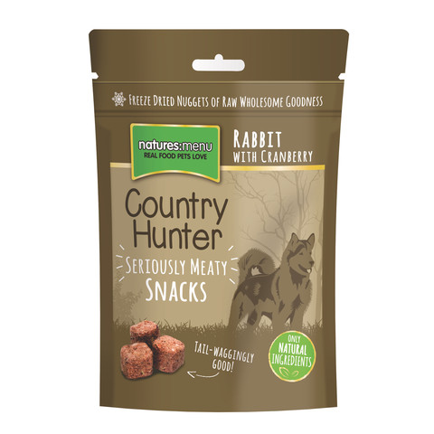 (d) Natures Menu Country Hunter Freeze Dried Grain Free Dog Treats With Rabbit 10 X 50g