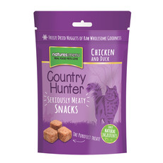 Natures Menu Country Hunter Freeze Dried Grain Free Cat Treats With Chicken & Duck 10 X 40g