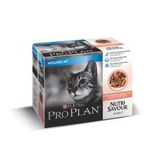 Pro Plan Nutrisavour Salmon In Gravy Housecat Adult Cat Pouch 10 X 85g