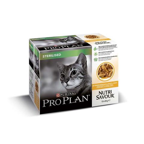 Pro Plan Nutrisavour Chicken In Gravy Sterilised Adult Cat 10 X 85g